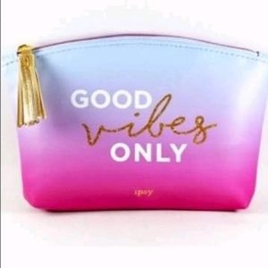 🆓️ Good Vibes Only Purple Ombre Makeup Bag